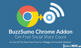 Get Free Social Share Count With BuzzSumo Chrome Addon