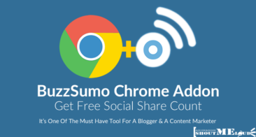 Get Social Share Count of any webpage for free With BuzzSumo Chrome Addon
