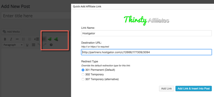 How to use ThirstyAffiliates