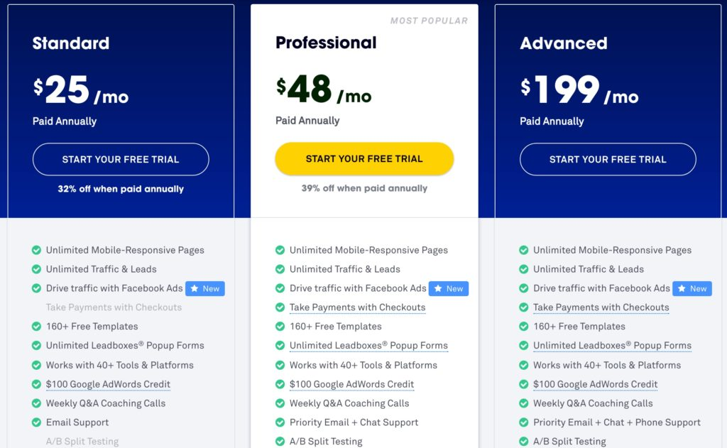 2500 worth of online marketing courses free with leadpages below is a screenshot from my dashboard to give you an idea of what you can create with leadpages pronofoot35fo Choice Image