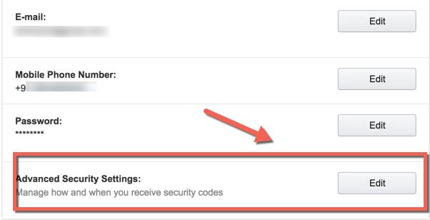 Make amazon account secure