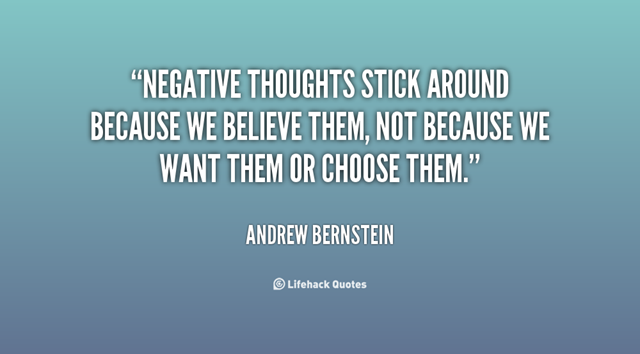 Negative thoughts quote