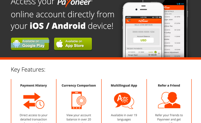Payoneer Mobile App Is Pure Bliss For Freelancers & Affiliates