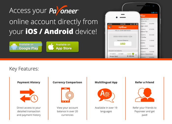 Payoneer Mobile App Is Pure Bliss For Freelancers & Affiliates [Download]