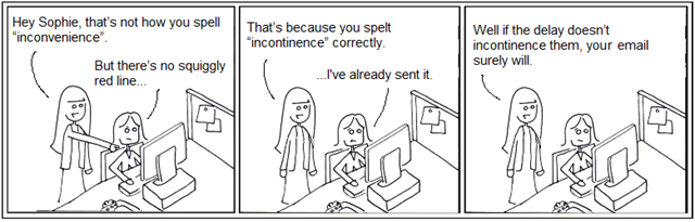 Spell check comic