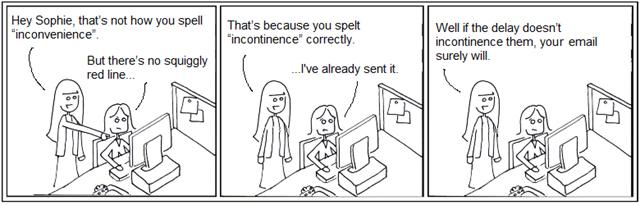 Spell check comic