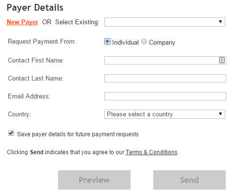 Payoneer Request a Payment