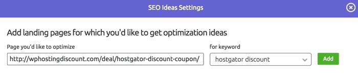 Check SEO optimization of a page