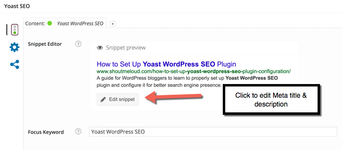 Configuring Yoast WordPress plugin