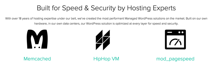 Managed WP hosting technical specifications