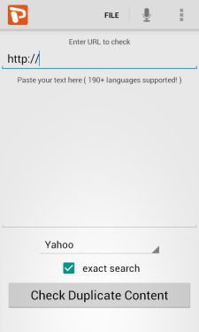 Plagiarism-checker-Android-app