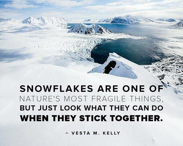 Snowflakes and Volunteering