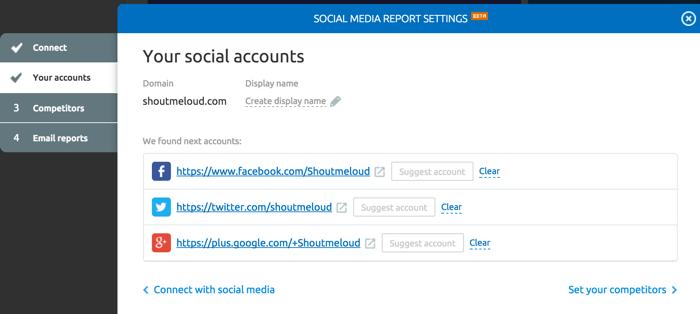 Social media analytics SEMRUSh