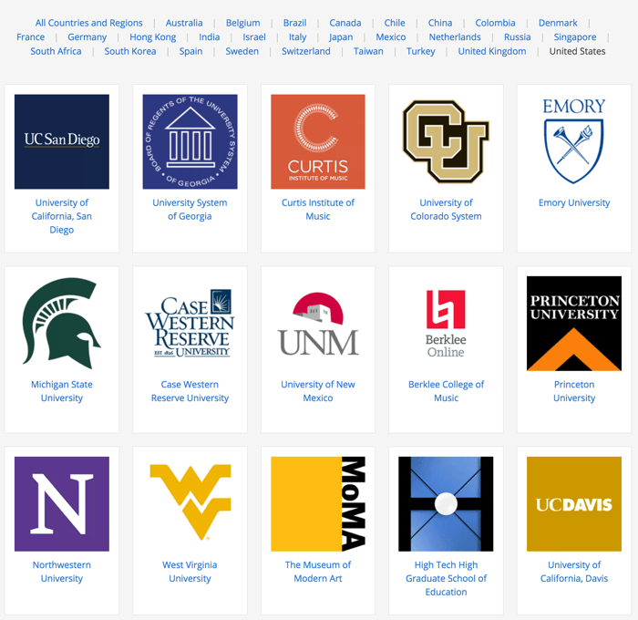 Affiliate universities with Coursera