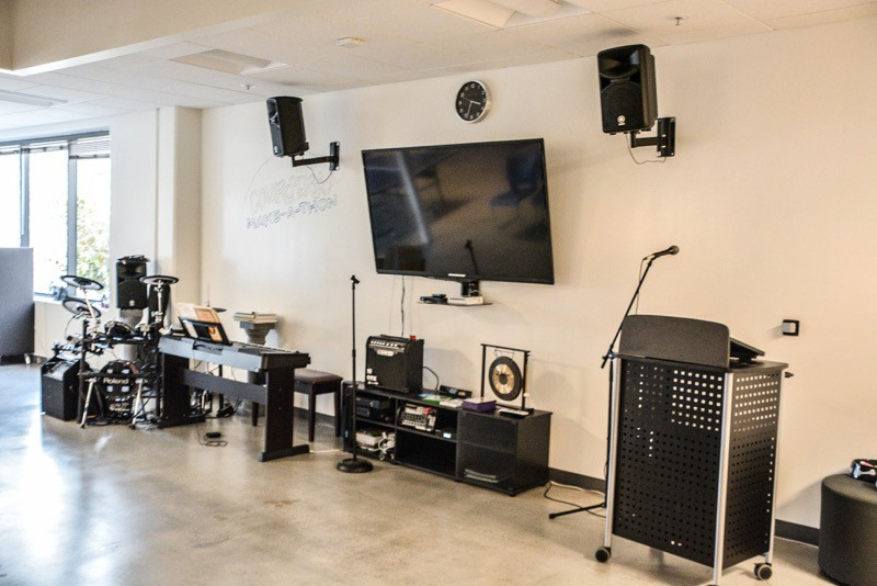 Music area in startup
