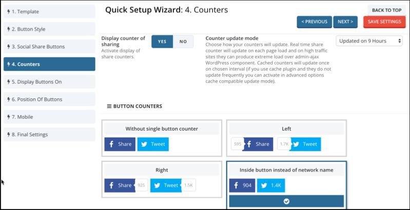 Easy Social Share Wordpress Plugin