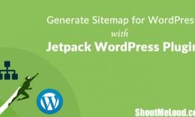 Generate Sitemap for WordPress with Jetpack WordPress Plugin