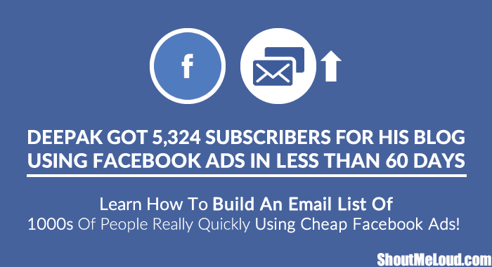 Grow Email List using Facebook Ads