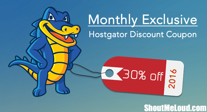 HostGator Hosting Maximum Discount Code February 2016 -30% off
