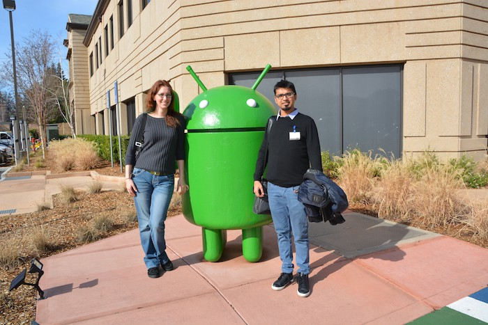 Outside Google Quad with Android