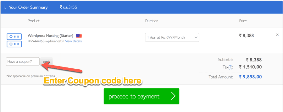 Bluehost discount coupons