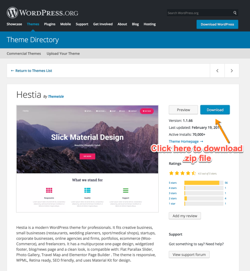 Download WordPress Theme