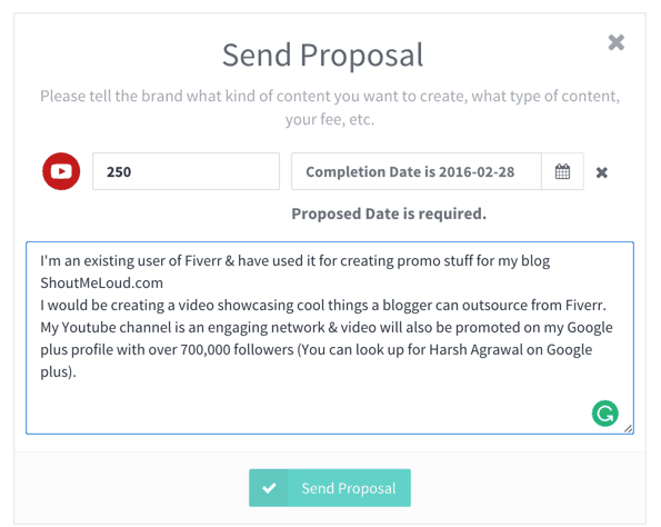 Can anyone give me tips on this proposal?