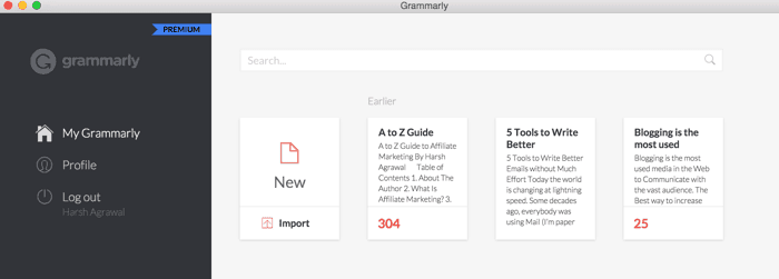 Grammarly desktop app