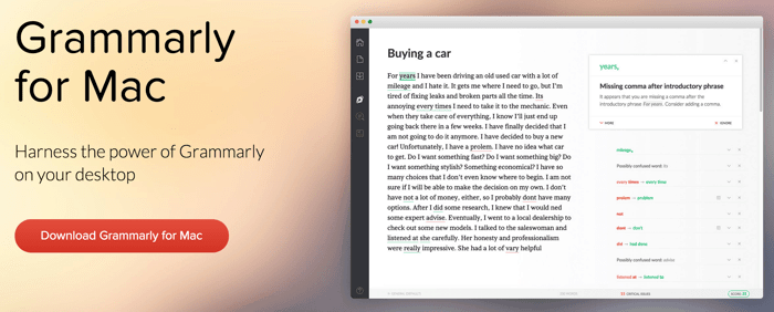 Grammer checker for Mac
