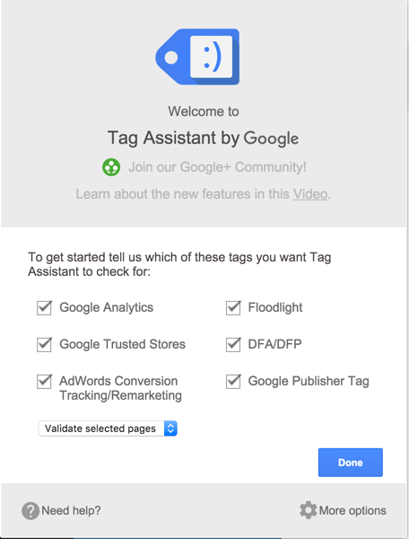 Tag assistant by Google