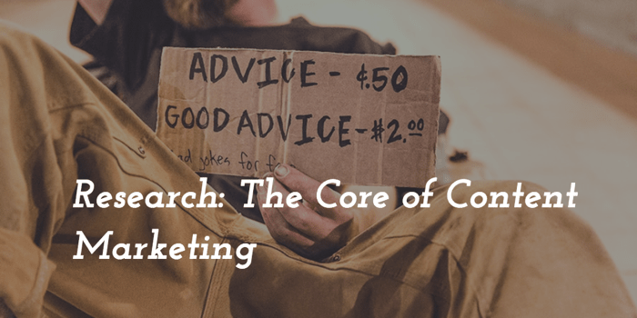 research core of content marketing