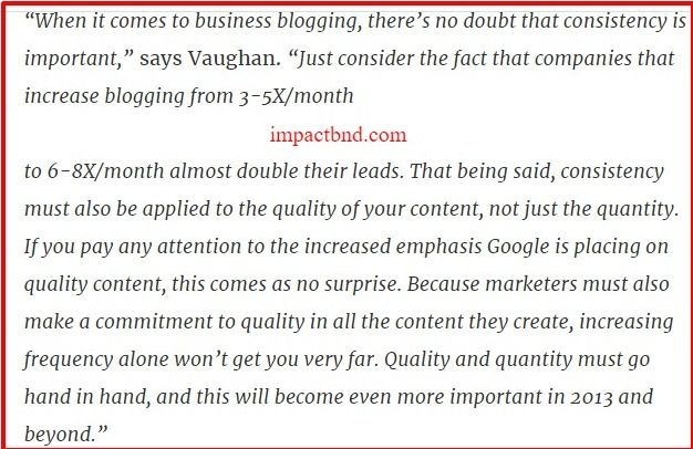 Consistency to Your Blogging Strategy