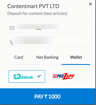Supported Payment ContentMart