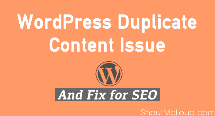 WordPress Duplicate Content
