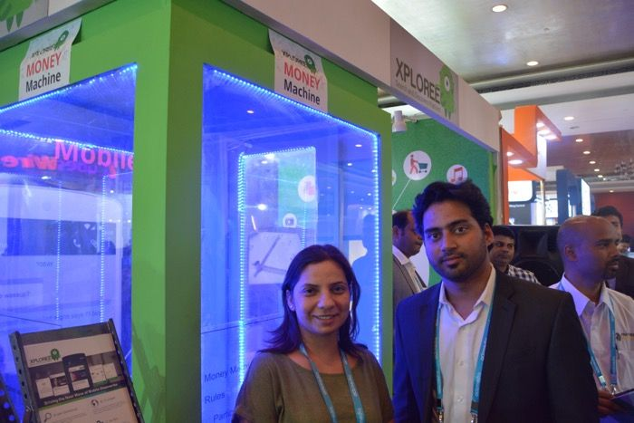 Xploree booth at Adtech Delhi