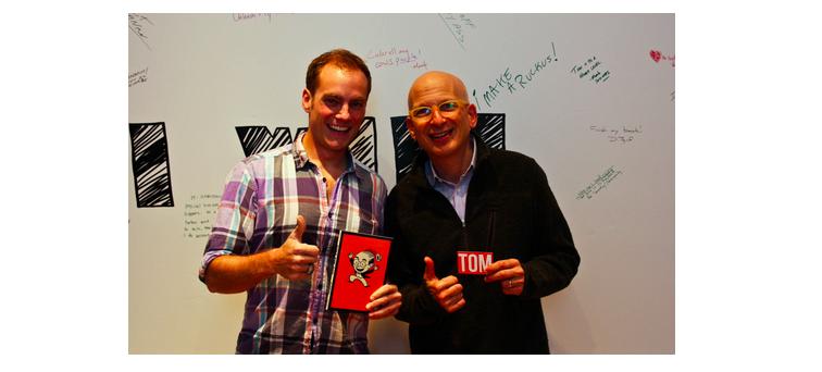 Tom with Seth Godin