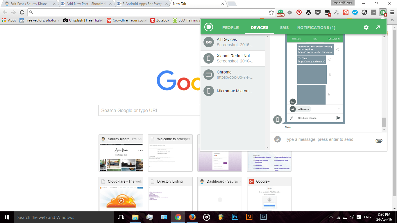 Pushbullet Chrome Extension