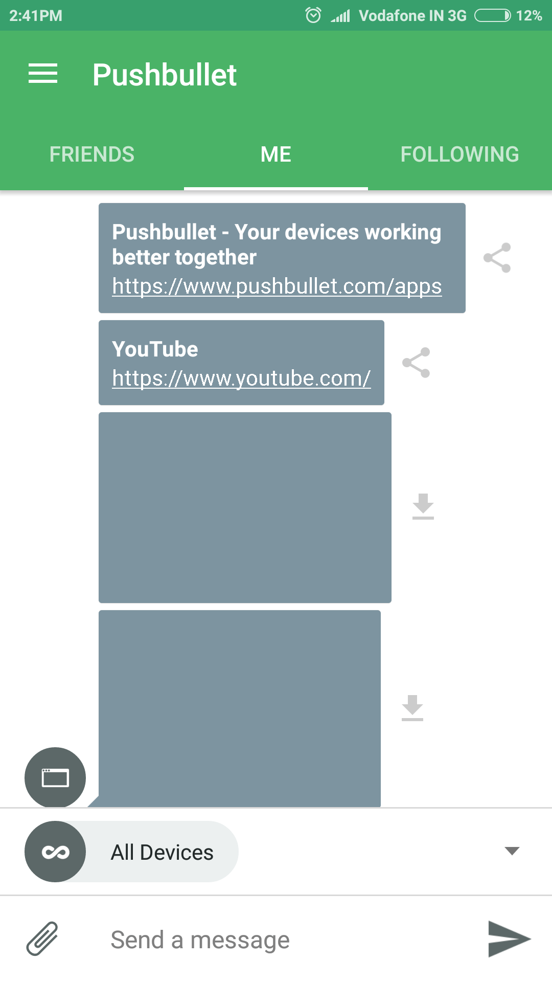 Pushbullete Android App