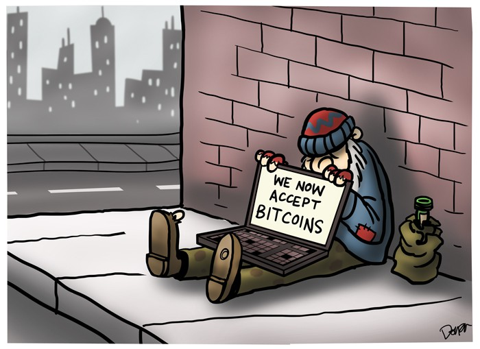 homeless bitcoin