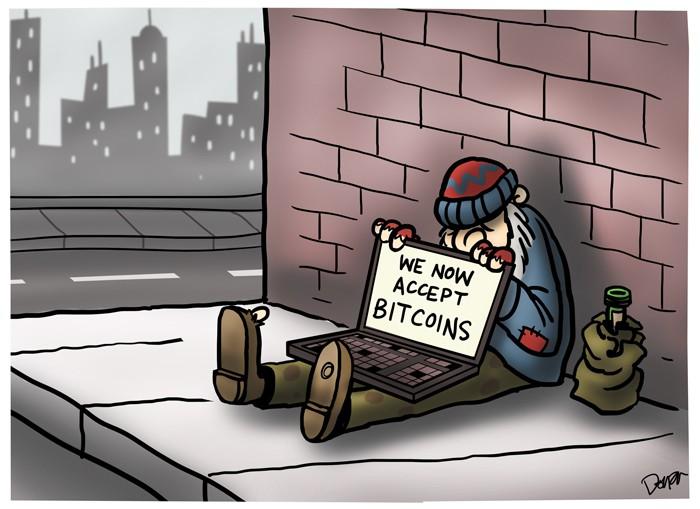 homeless bitcoin