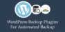 Best WordPress Backup Plugins For Automated Backup: 2018