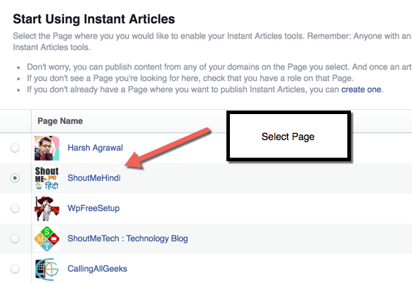 Configure FB Instant Article