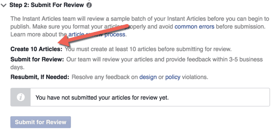 Create 10 articles