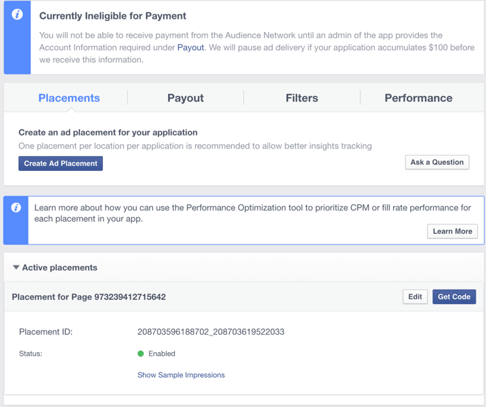 Dashboard For Facebook ads