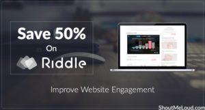 Save 50% on Riddle: Improve Website Engagement