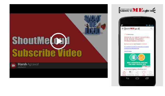 Shout me Loud Android optimize mobile app screenshot_video