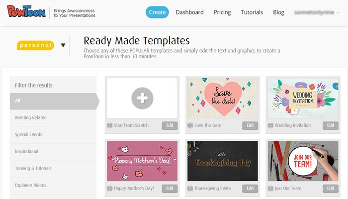 powtoon templates