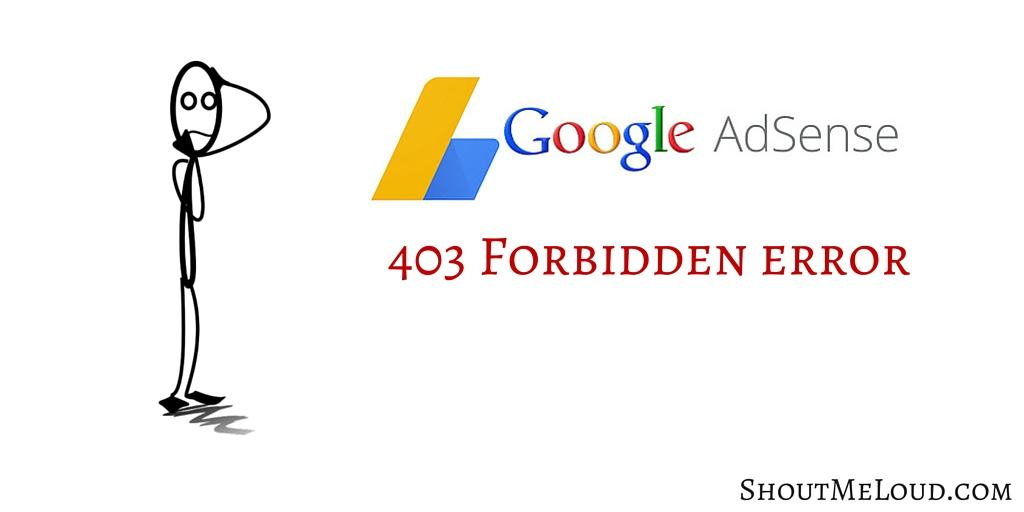 403 Forbidden Error of Google Adsense