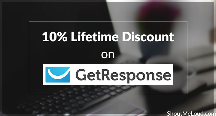 GetResponse Exclusive Deal: 10% Lifetime Discount