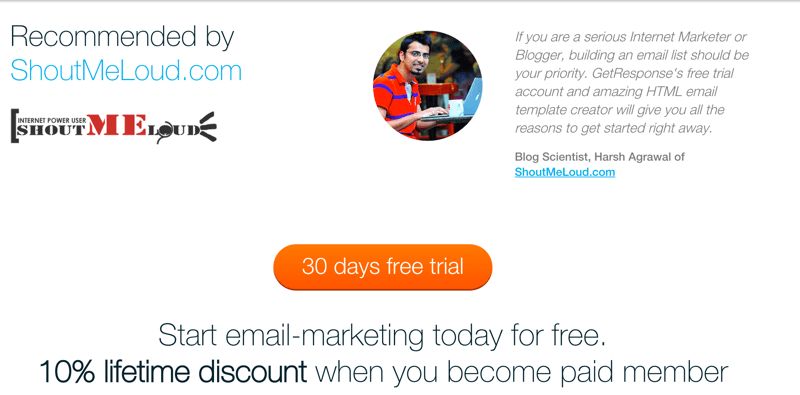GetResponse Discount